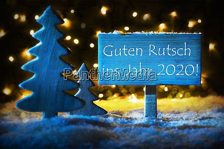 blauer weihnachtsbaum guten rutsch 2020 bedeutet