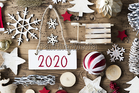 rustikale weihnachten flache lay text 2020