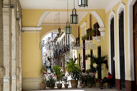cuba, , havana, , colonial, arcade, , old, havana - 27329011