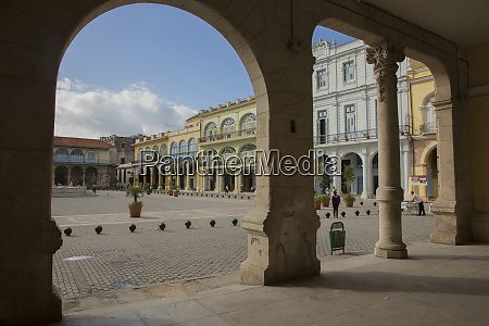 cuba, , havana, , restored, colonial, plaza, , viewed - 27329231
