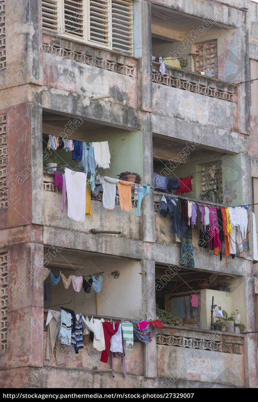 cuba, , trinidad, , apartment, building, with, laundry - 27329007