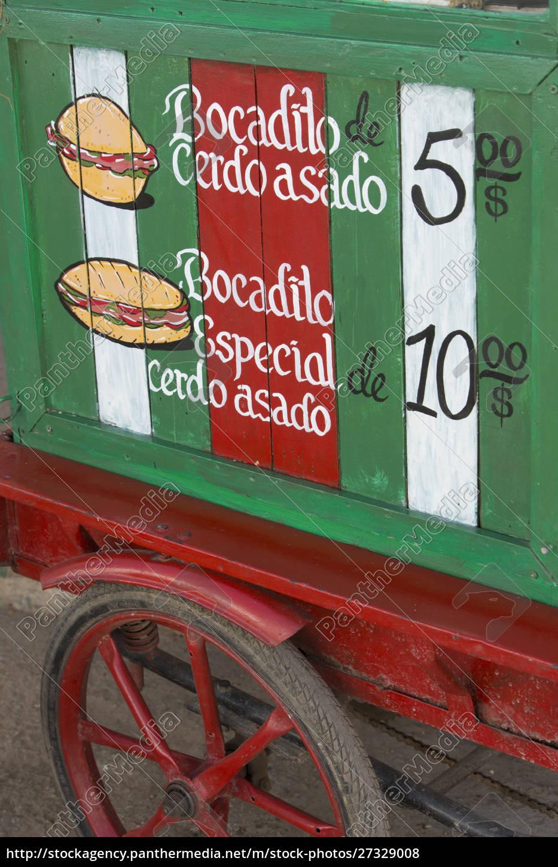 cuba, , vinales, , sandwich, cart - 27329008