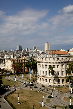 kuba, havanna, kolonialbauten, vom, dach, aus, betrachtet., das - 27329012