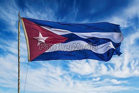 kuba, havanna, vieja, kubanische, flagge, weht, in, der - 27329027