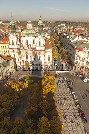birds eye view of old town