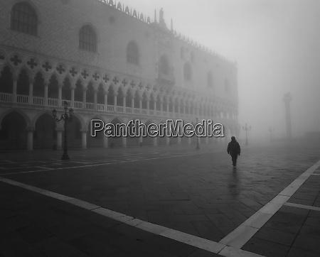 europe italy venice man walking in