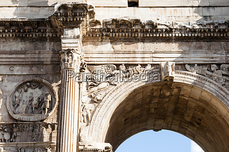 detail of arch of constantine arco