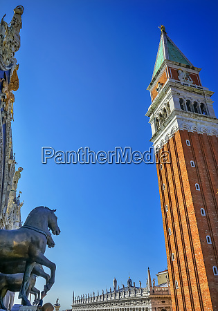 st marks basilica horses campanile bell