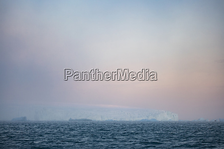 norway svalbard kvitoya glacier in fog