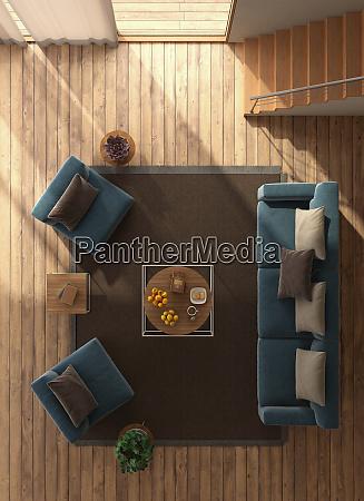 blick auf ein modernes wohnzimmer