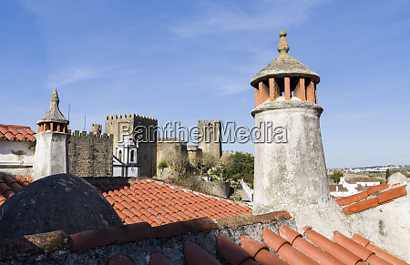 chimney in traditional moorish style historic