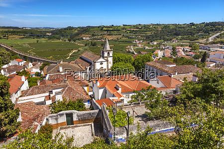 santa maria church countryside medieval town