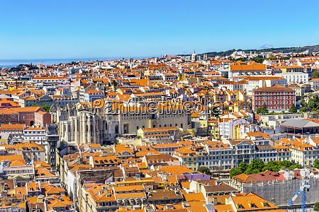 orange roofs lisbon portugal