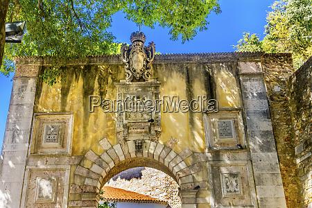 stone gate at castelo de san