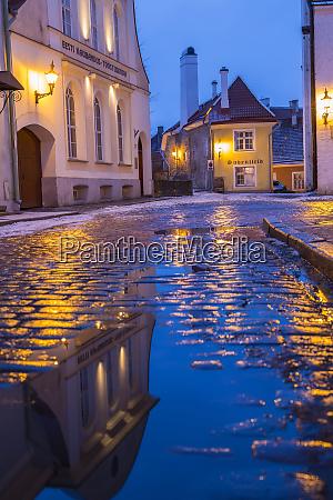 reflections old town tallinn estonia