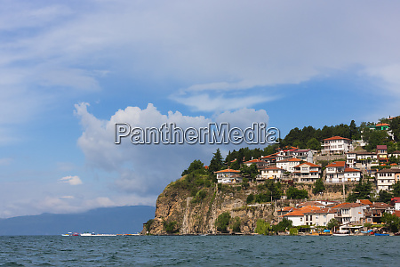 ohrid cityscape on the shores of