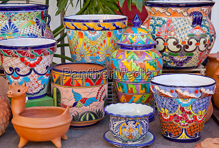 mexican pots and decorations old san
