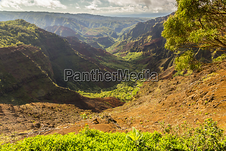 usa, hawaii, kauai., waimea, canyon, landschaft. - 27340630