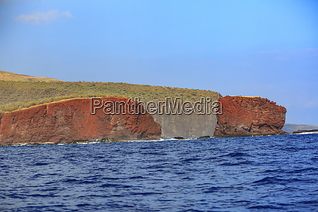 rugged cliffs and shoreline on the