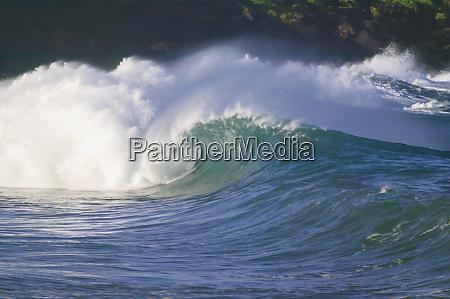 pazifische, sturmwellen, nordküste, von, oahu, hawaii - 27341330