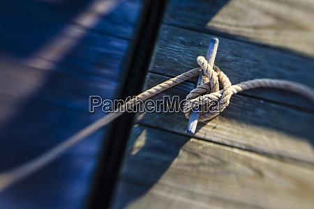 seil an einem dock in pamet