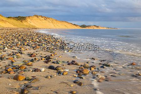 low tide on duck harbor beach