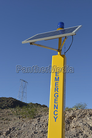 usa nevada lake mead solarbetriebene notbake
