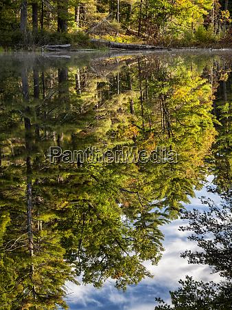 usa new hampshire white mountains reflections