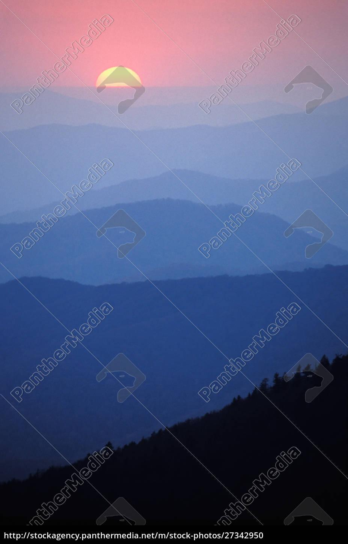 sunrise, southern, appalachian, mountains, great, smoky, mountains, nationalpark, north - 27342950
