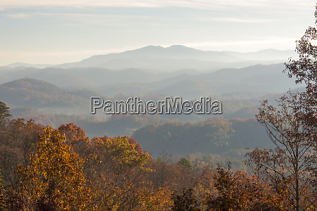 usa tennessee morning light view of
