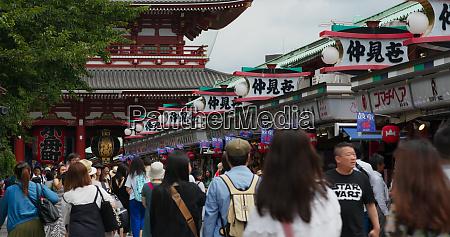 tokyo japan 24 june 2019 nakamise