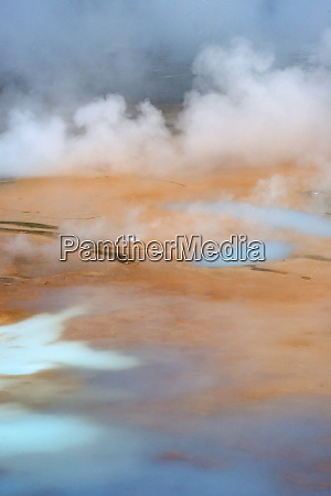 usa wyoming geothermal vents and pools