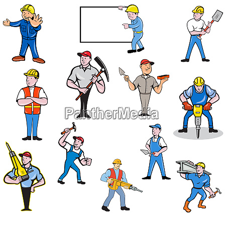 construction worker set
