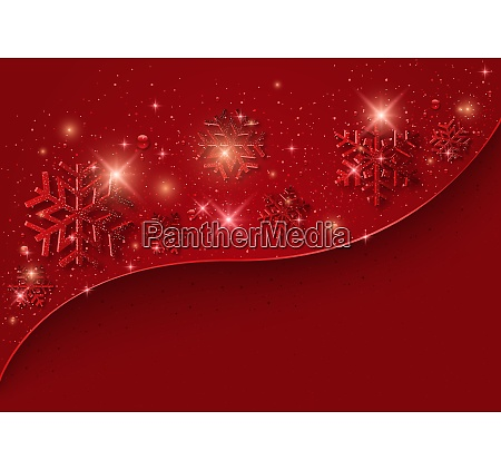 red christmas background with snowflakes and