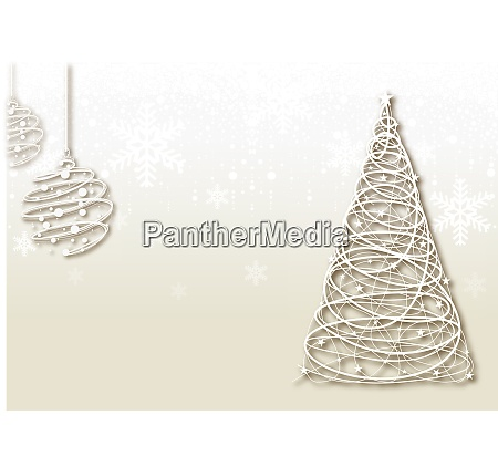 bright christmas background with wire decorations