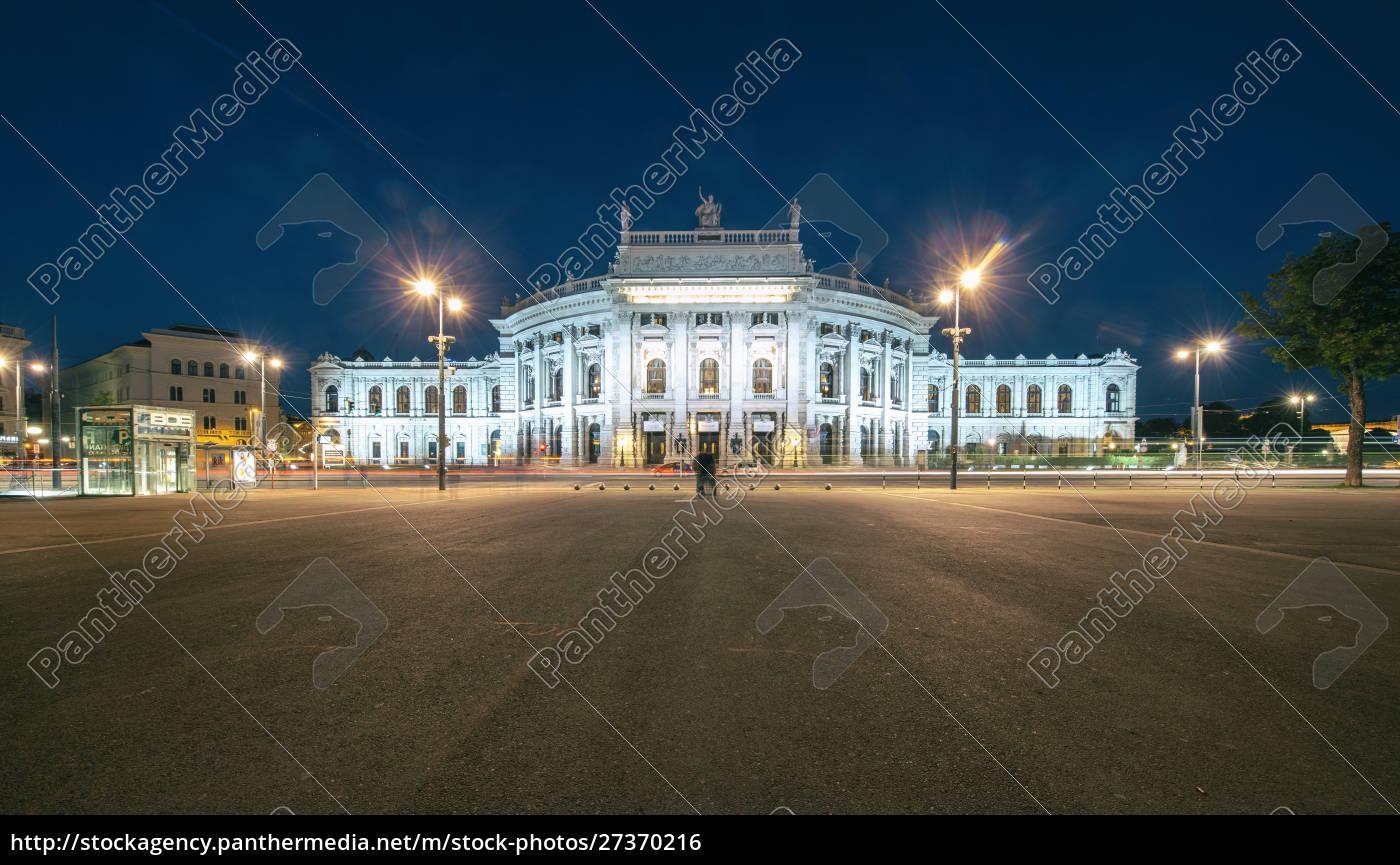 burgtheater, bei, nacht, wien, Österreich - 27370216