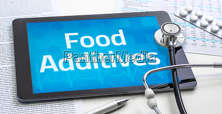 the word food additives on the