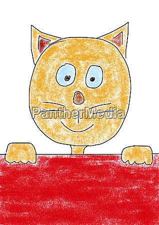 kinderzeichnung einer katze
