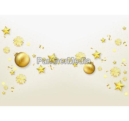 weihnachtshintergrund mit goldenen ornamenten