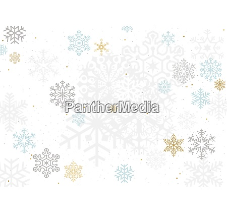 background with colorful pastel snowflakes