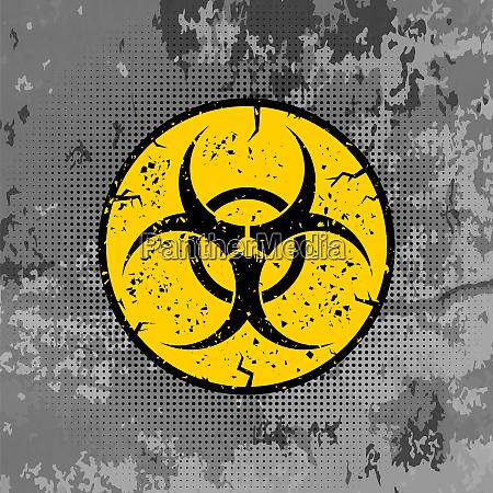 hueten sie sich biohazard zeichen isoliert