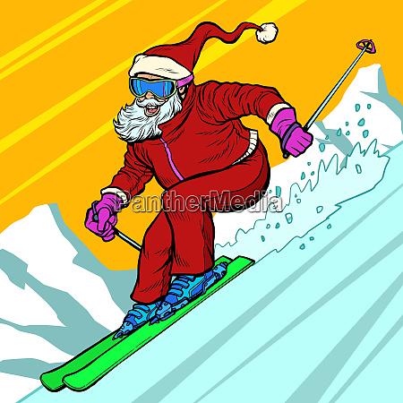 skifahrer tagesfahrten vom berg santa claus
