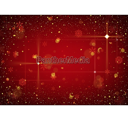 red abstract christmas background with glitters
