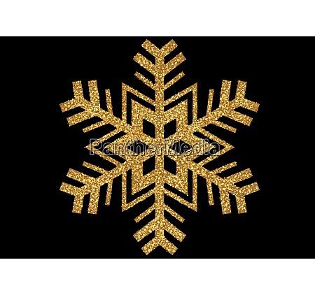 gold glitzernde weihnachten schneeflocke