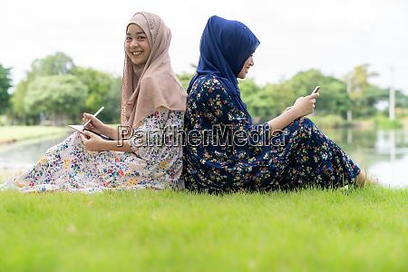 muslimische teenager soziale medien