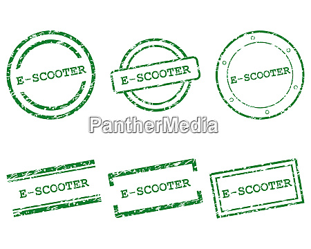 e scooter briefmarken