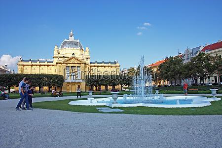 kunstpavillon in zagreb kroatien