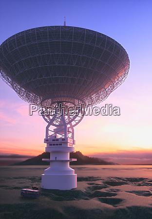 riesige antenne satellitenschale