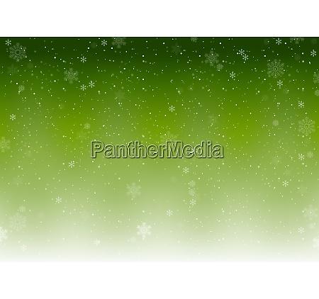 green xmas winter background