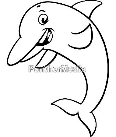 delphin tier charakter cartoon malbuch